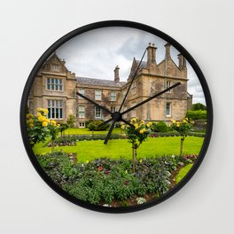 Photos Ireland Killarney National Park Muckross House and Gardenh rose Parks Mansion Lawn Houses Cities Design Roses park Building Wall Clock