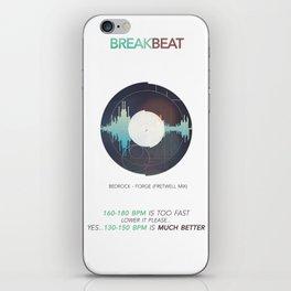 BREAKBEAT iPhone Skin