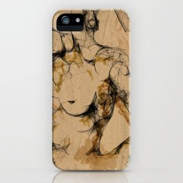 One love geometry iPhone Case