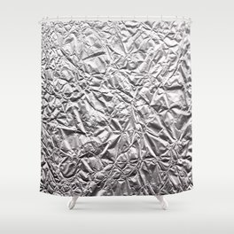 Silver Paper Shower Curtain