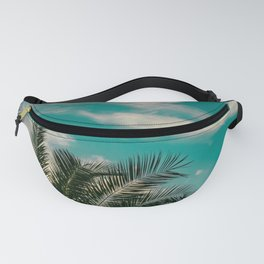 Palms on Turquoise - II Fanny Pack