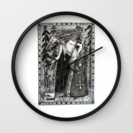 Necromancer Wall Clock