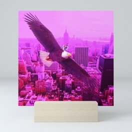 Eagle and Pink City Mini Art Print