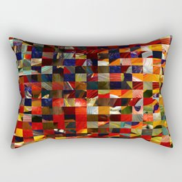 Colorful Collage Rectangular Pillow