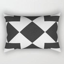Black & White Tile Pattern Rectangular Pillow