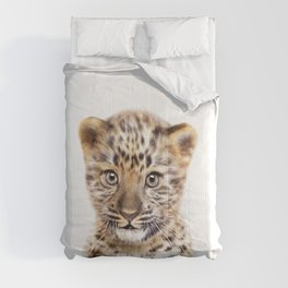 Baby Leopard, Baby Animals Art Print By Synplus Comforters