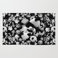 pandas Area & Throw Rugs featuring Pandas by suvawear