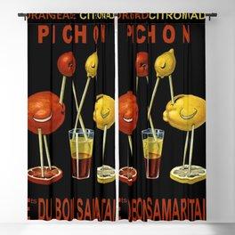 Vintage Iconic Orangeade Citronnade Pichon Advertising Display Blackout Curtain