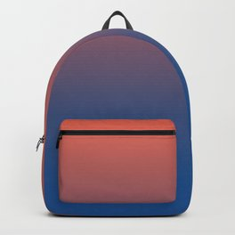Pantone Living Coral & Turkish Sea Blue Gradient Ombre Blend Backpack