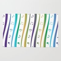 music notes Area & Throw Rugs featuring Seamless music notes pattern by ib photography