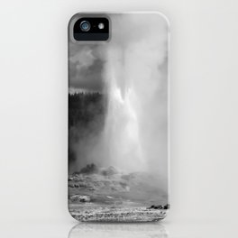 Old Faithful in Black and White iPhone Case