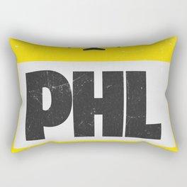 PHL Philadelphia airport code yellow Rectangular Pillow