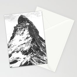 Black and White Mountain Stationery Cards