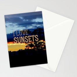 I love sunsets Stationery Cards