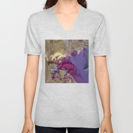 Feelings of being in love -- Fractal illustration Unisex V-Neck