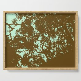 Mint and Brown Forest Serving Tray