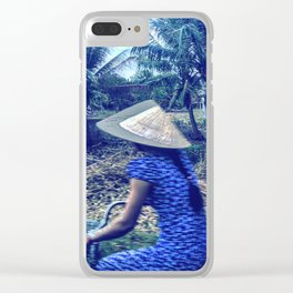 The girl in the blue dress Clear iPhone Case