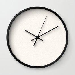 Melange - White and Linen Wall Clock