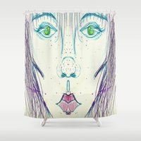 vogue Shower Curtains featuring Somebody Call Vogue by writingoverashes