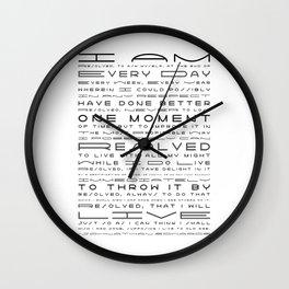 Jonathan Edwards Resolutions Wall Clock