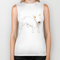 bull terrier Biker Tanks featuring Bull Terrier by jo clark