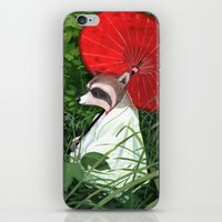 raccoon iPhone & iPod Skins featuring Raccoon by Erik Krenz