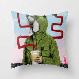 Caffeine Boost Throw Pillow