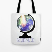 science Tote Bags featuring Science! by Bunhugger Design