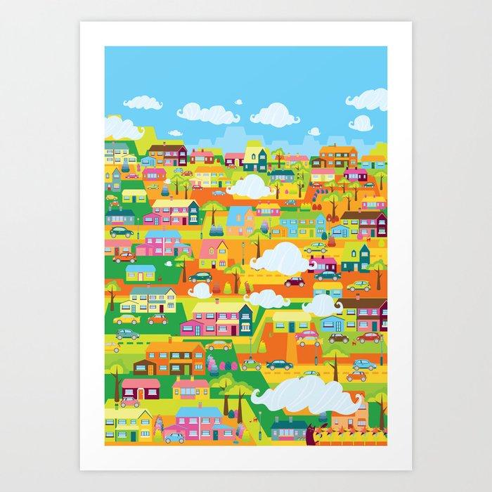 Neighbourhood Art Print