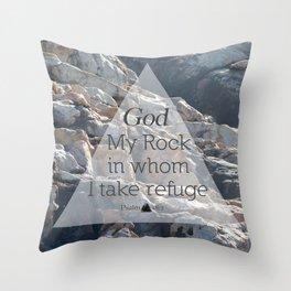 My God My Rock Throw Pillow