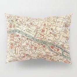 Vintage Map of Paris Pillow Sham