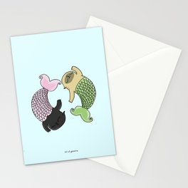 Merpug aka pisces pug! Stationery Cards