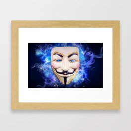 Anonymos Hacktivst Group Framed Art Print
