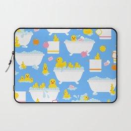 Rubber Duck Baby Bath Time Pattern Laptop Sleeve