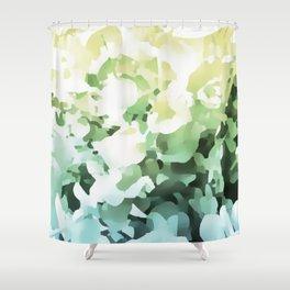 Floral light illusion Shower Curtain