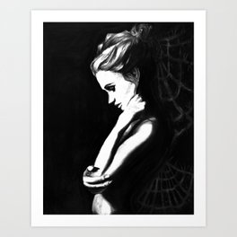 Frozen Contemplation Art Print
