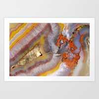 agate Art Prints featuring agate by Cm1003