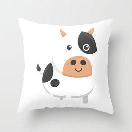 Adorable Cow & Cute Baby Calf Throw Pillow