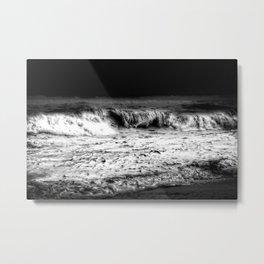 Churn Monochrome Metal Print