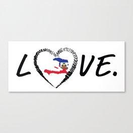Love Haiti. Canvas Print