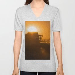 Midsummer time is harvest time of the cereal fields Unisex V-Neck