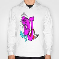 dj Hoodies featuring DJ by Christa Bethune Smith