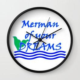 Merman Of Your Dreams (Blue) Wall Clock