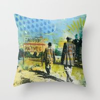 native Throw Pillows featuring Native by MATEO