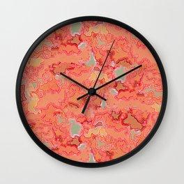 Coral Patina Wall Clock