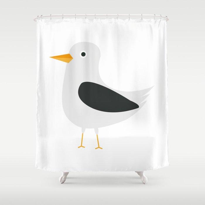 Cute seagull Shower Curtain
