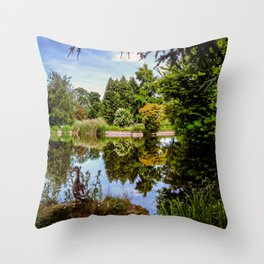 Lakeside reflections. Throw Pillow