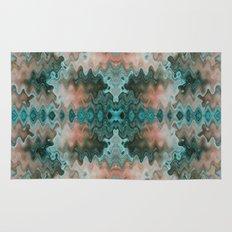 South Western Desert Colors Wavy Mosaic Rug