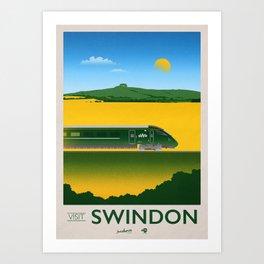 Visit Swindon - Liddington Hill Art Print