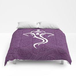 Purple Ganesha - Hindu Elephant Deity Comforters
